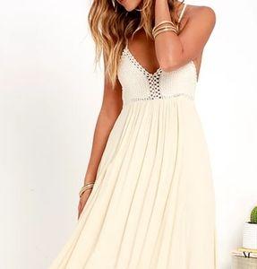 Hippie Chic cream maxi dress